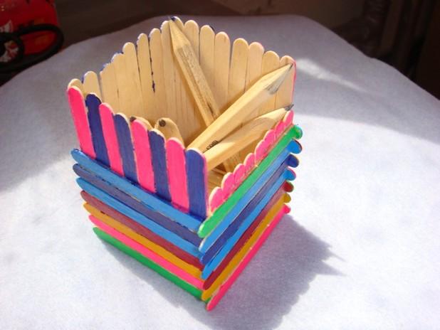Ice cream stick making in different seasons for Ice cream sticks craft